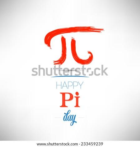 World Pi Day flat design vector illustration on white background - stock vector