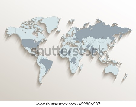 World political map white blue 3 d stock vector 459806587 shutterstock world political map white blue 3d vector gumiabroncs Choice Image