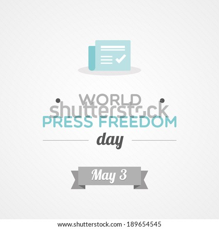 World Press Freedom Day - stock vector