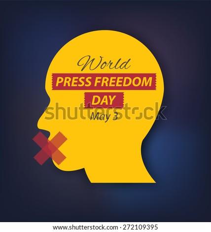 World Press Freedom Day. vector illustration. - stock vector