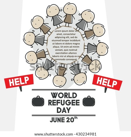 World Refugee Day Campaign Poster Refugee Stock Vector 430234981 ...