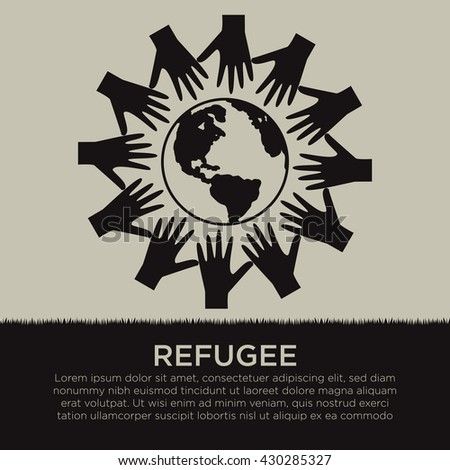 World Refugee Day Campaign Poster Refugee Stock Vector 430285327 ...