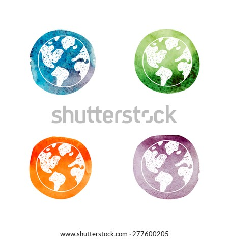 world, round world  - stock vector