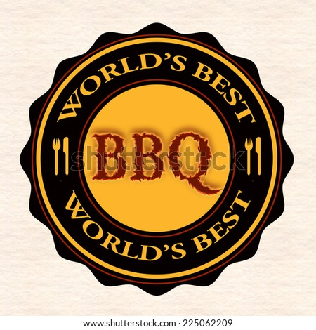 world's best bbq grunge stamp with on vector illustration - stock vector