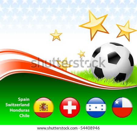World Soccer Event Group H Original Illustration - stock vector