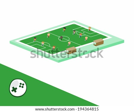 world soccer team formation cartoon character - stock vector