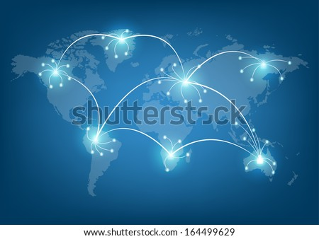 World social network communication  - stock vector