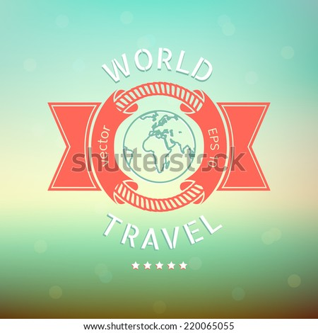 World travel banner - stock vector