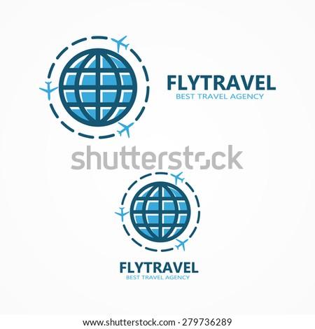 World travel logo - stock vector