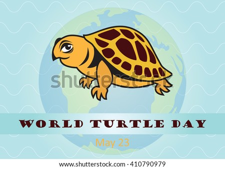 World Turtle Day. Vector illustration of turtle. Protection of turtles - stock vector