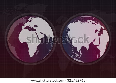 World vector map. Globe Earth texture map. Globe vector map view from space. Globe Earth silhouette. Technology background, geography world vector earth. Globe silhouette, world map, wallpaper earth - stock vector