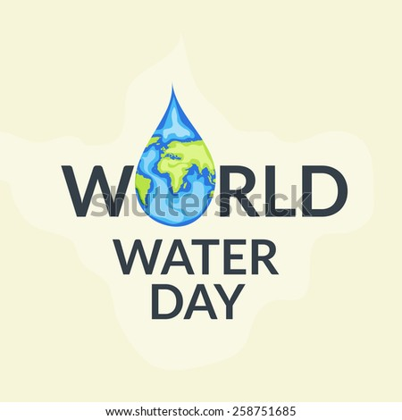 World Water Day. - stock vector
