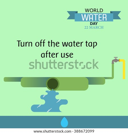 World water day illustration cartoon design 05 - stock vector