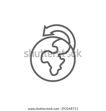 World wide cargo transportation line icon. - stock vector