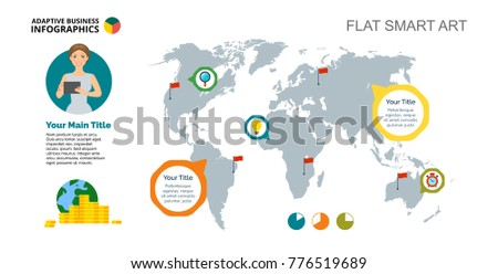 World map infographic template countries africa vectores en stock world wide company slide template gumiabroncs Gallery