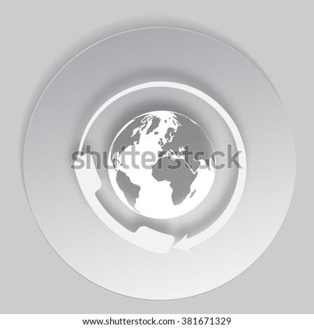 Worldwide customer support call-center. Flat vector eps10 icon - stock vector