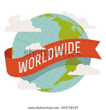 Worldwide icon - stock vector