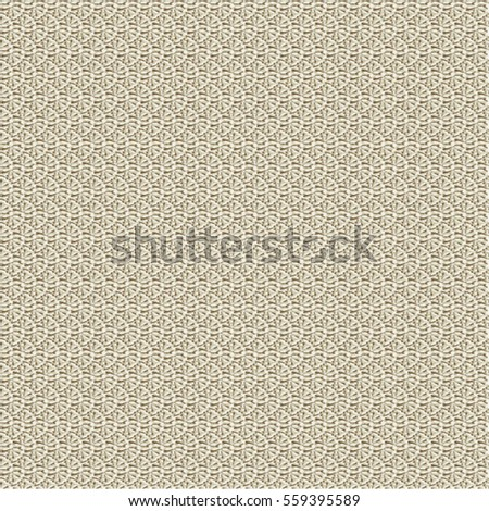 Woven material texture. Beige patterned background. Abstract vector.