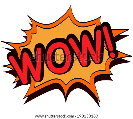Wow comic book illustration - stock vector