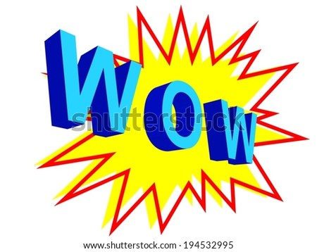 Wow! Comic Speech with boom on the background - stock vector