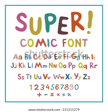 Wow. Creative high detail font for your design. The alphabet in the style of comics. Graphics pop - art on transparent background. Bright cartoon comic. 3d letters.