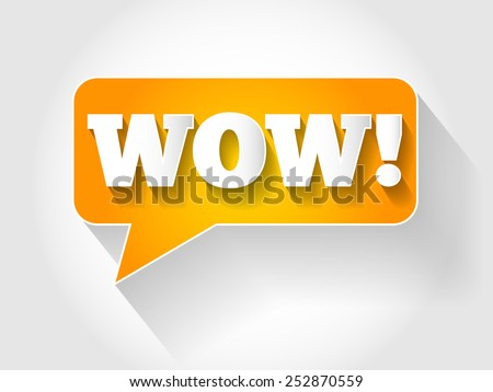 WOW message bubble, business concept - stock vector