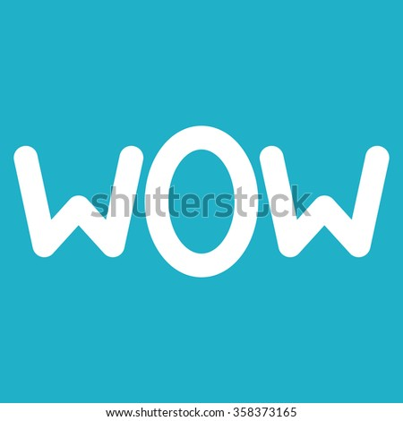wow text.vector illustration. - stock vector