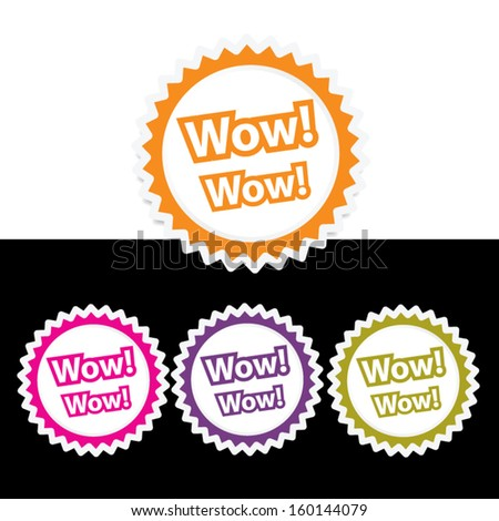 wow - vector. - stock vector