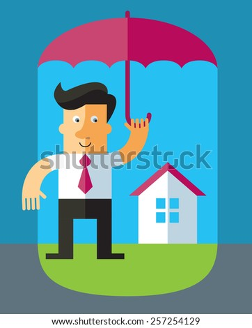Wr?ng business office team. Business flat vector illustration - stock vector