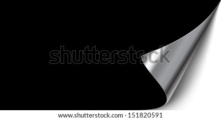 wrapped Page. sticker. post it. dark and shiny - stock vector