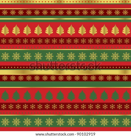 Stock Vector Wrapping Paper For Christmas