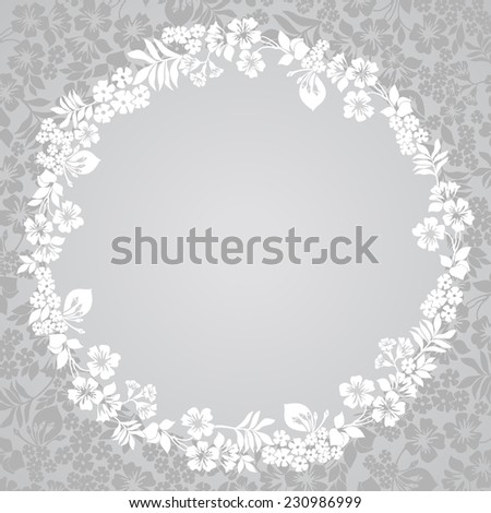 Wreath of Flowers with a place for Your text. Vector illustration.  - stock vector