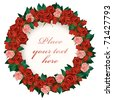 Wreath of red roses - stock vector