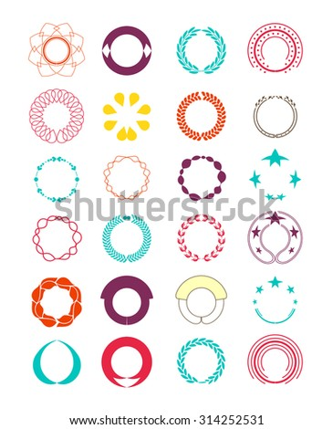 Wreaths and branches. elements decorate page and logo. vector illustration - stock vector