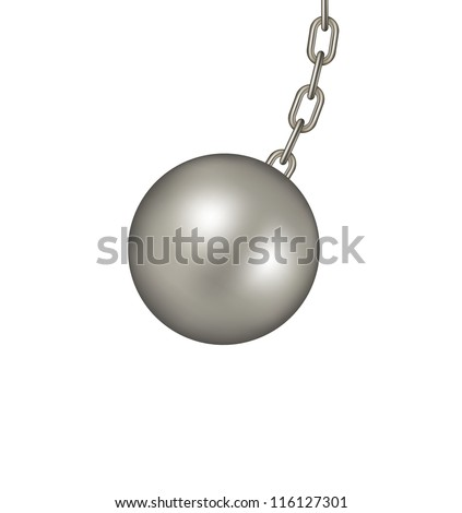 Wrecking ball - stock vector