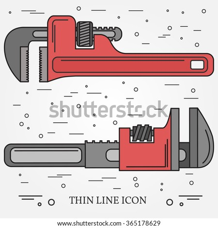 Wrench Icons. Wrench Icons Vector. Wrench Icons Drawing. Wrench Icons Image. Wrench Icons Graphic. Wrench Icons Art. Wrench Icons JPG. Wrench Icons JPEG.  Think line icons.