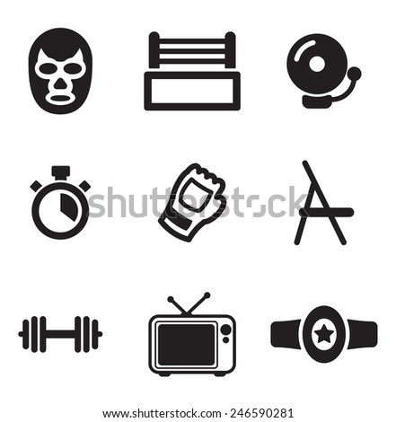 Wrestling Icons - stock vector