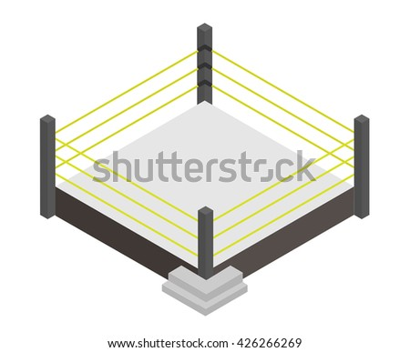 wrestling ring , isometric vector
