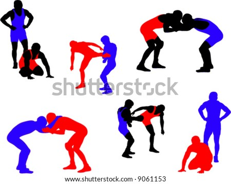 Wrestling Vector Silhouettes 2
