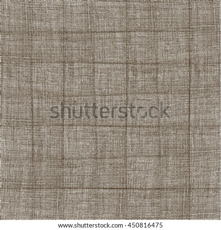 Wrinkled old canvas texture. Rough fabric background. Abstract vector.