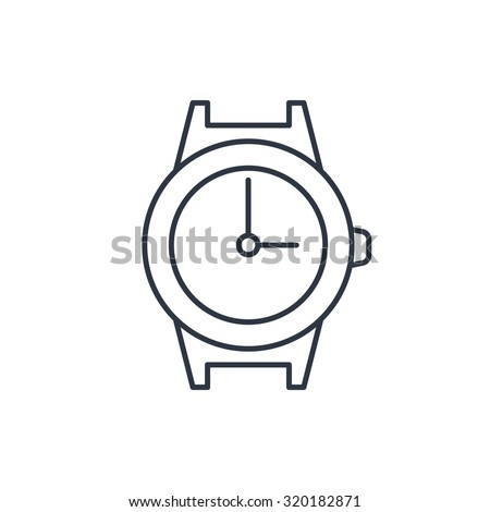 wrist watch outline icon  - stock vector