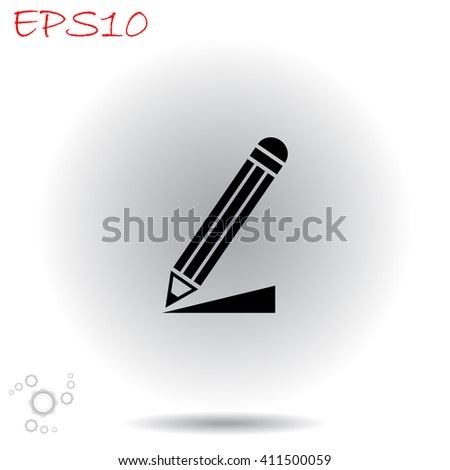 Write a note icon. Simple black vector symbol. Logo for web. Image for business. - stock vector