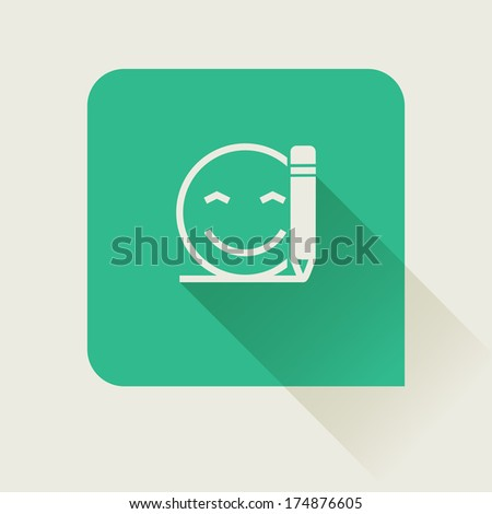 write customer feedback flat vector icon - stock vector