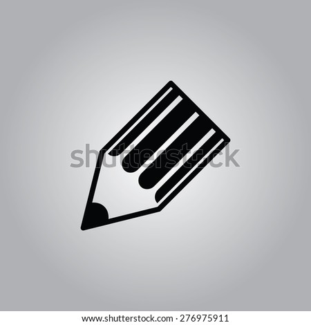 Write Icon. - stock vector