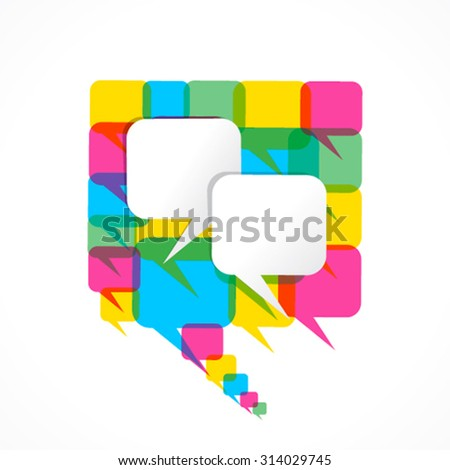 write your text on message bubble  with colorful message bubble design vector