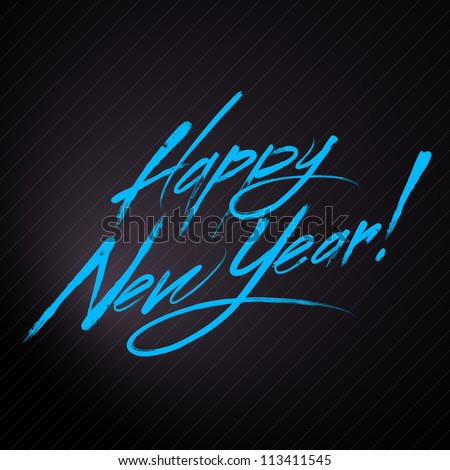 "Writing ""Happy New Year"" . HNY logo - stock vector"