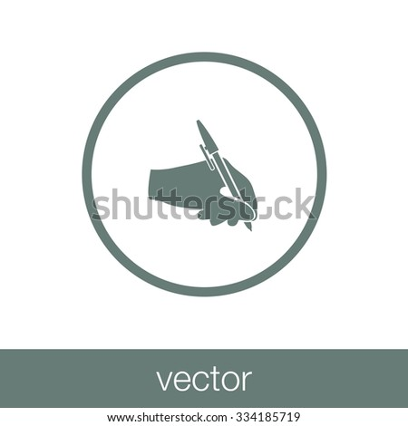 Writing icons. Signing contract icon. concept flat style design illustration icon. - stock vector