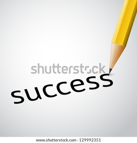 writing pencil success - stock vector