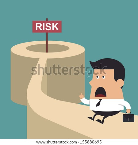 Wrong-way Risk, Business idea - stock vector