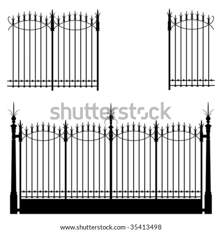 Wrought iron gate and fence
